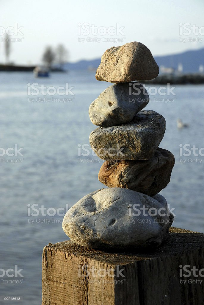 Beach Balance royalty-free stock photo