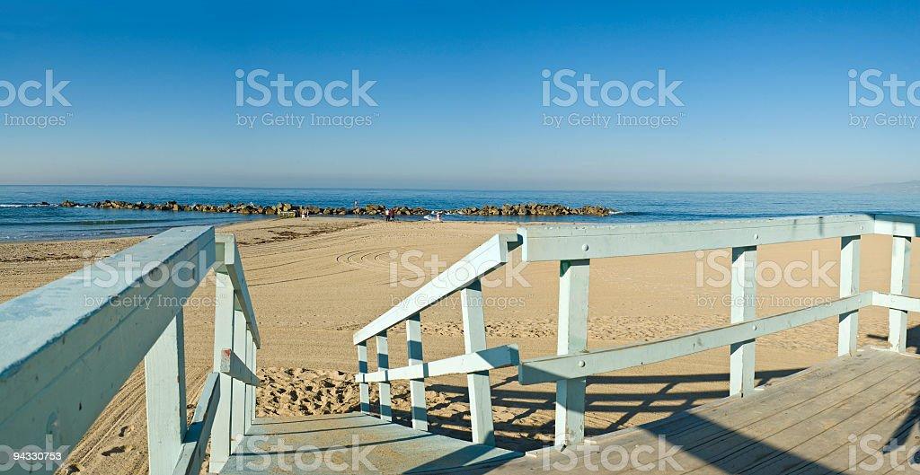 Beach balcony view royalty-free stock photo