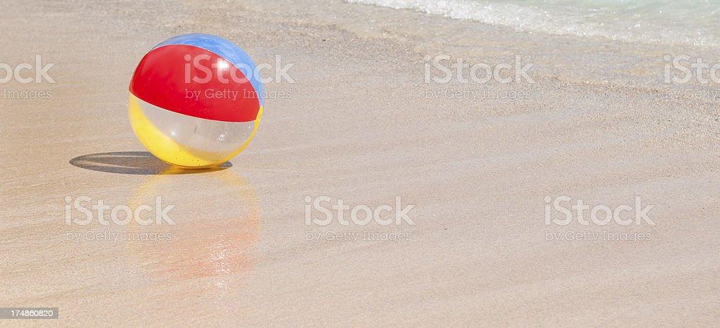 Beach ball and sea royalty-free stock photo