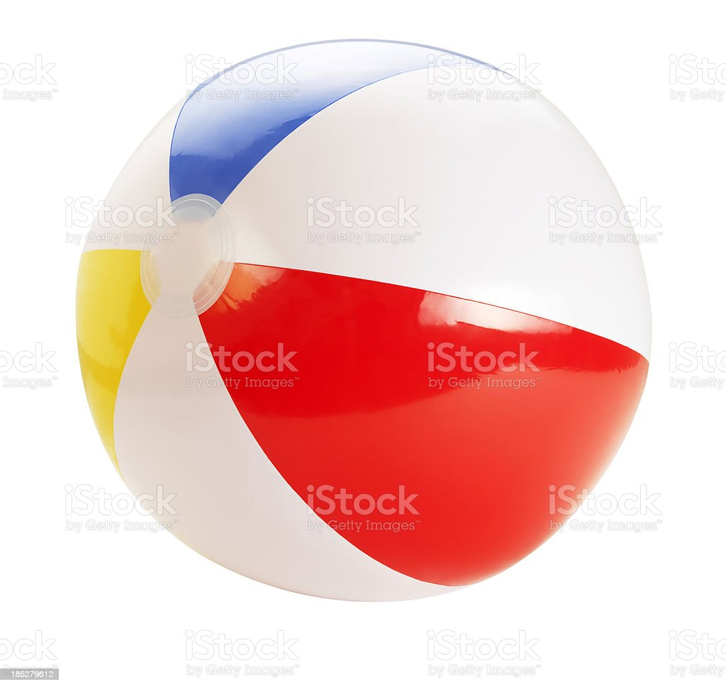 Beach Ball +Clipping Path (Click for more) stock photo