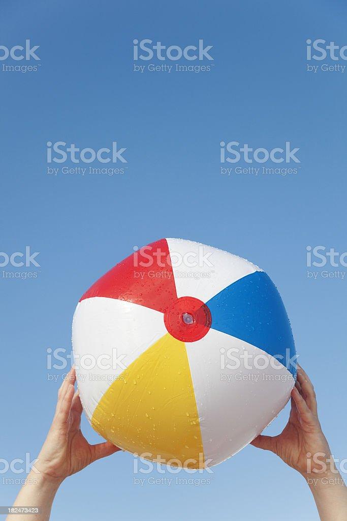 Beach Ball Fun in the Summer stock photo