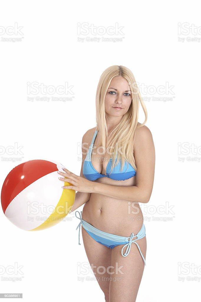 Beach ball fun royalty-free stock photo
