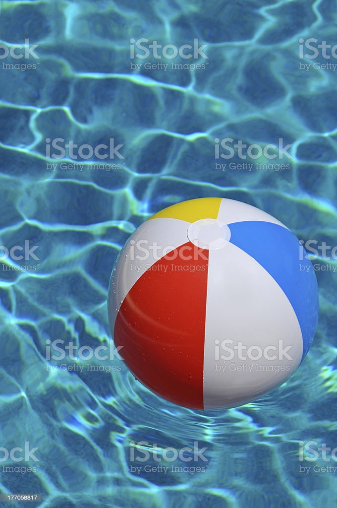 Beach Ball in Pool royalty-free stock photo