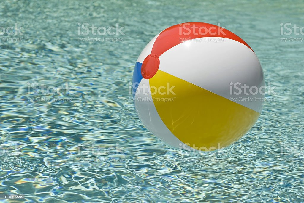 Beach Ball In Swimming Pool royalty-free stock photo