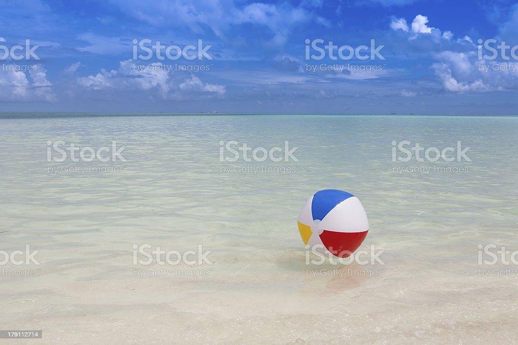 beach ball in the sea royalty-free stock photo