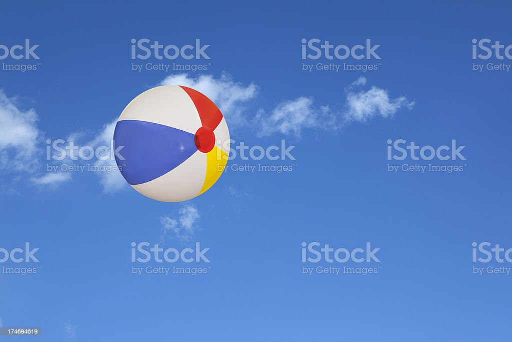 Beach Ball in the Sky royalty-free stock photo