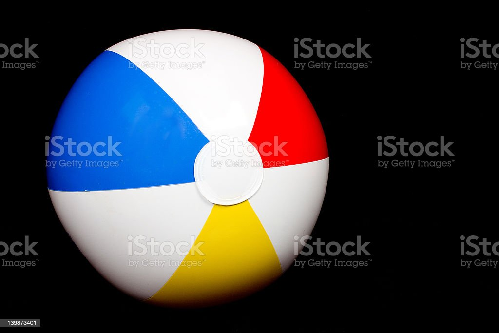 Beach Ball Isolated on Black royalty-free stock photo