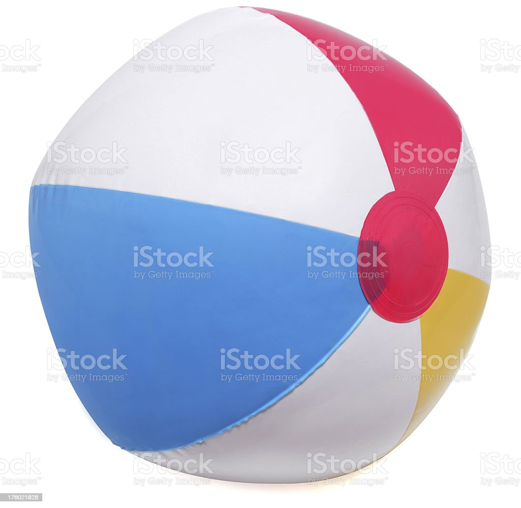beach ball isolated on white royalty-free stock photo