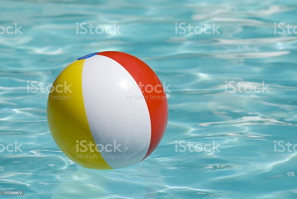 Beach ball on water royalty-free stock photo
