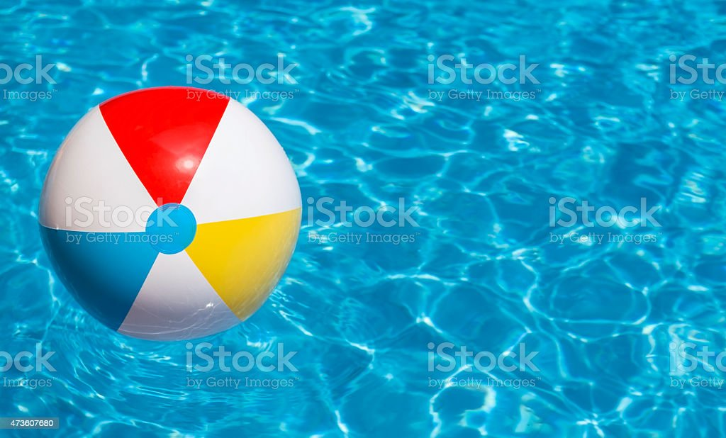 Pool Water With Beach Ball party swimming pool beach ball floating on water pictures, images