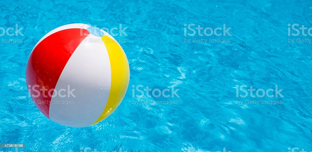 pool water with beach ball. Pool Water With Beach Ball Y