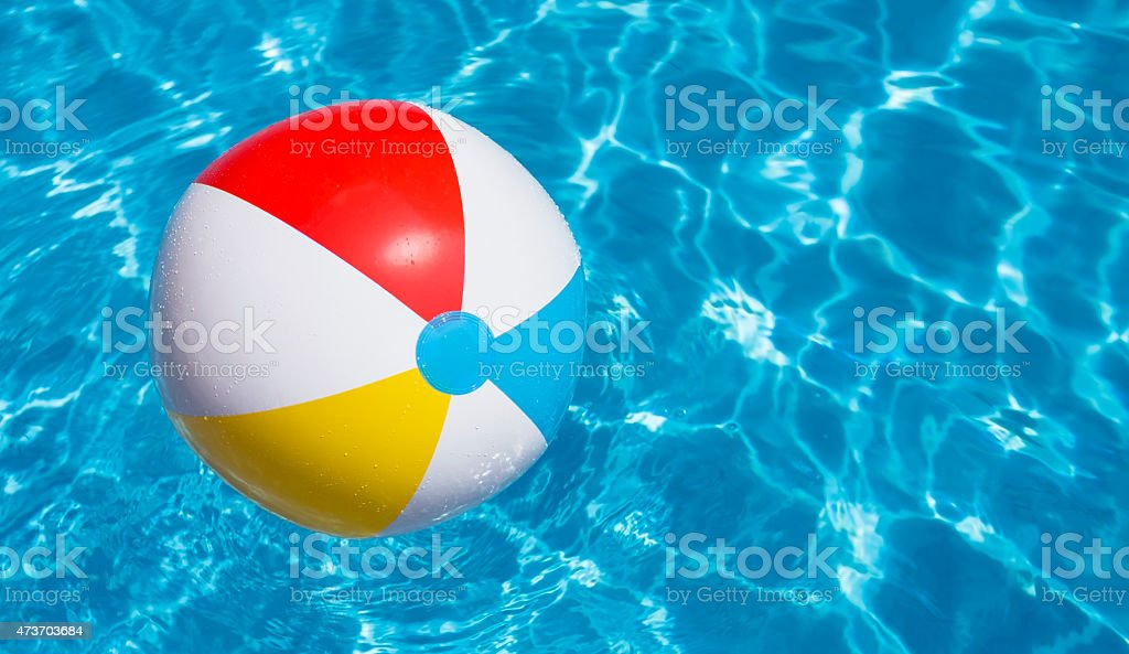 Pool Water With Beach Ball swimming pool party summer beach ball pictures, images and stock