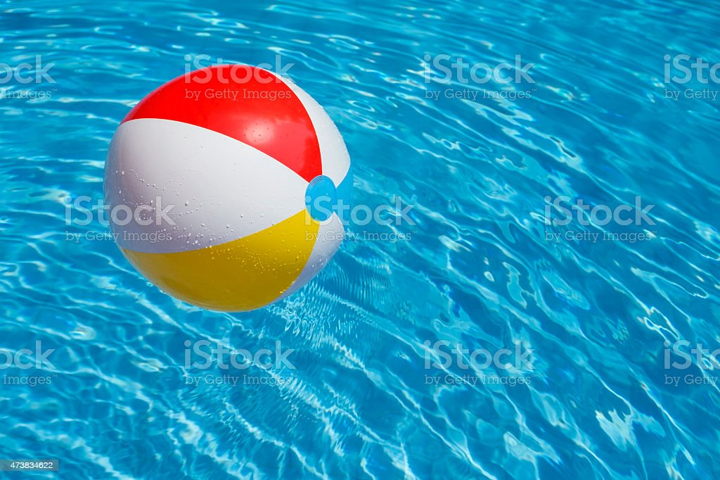 Pool Water With Beach Ball swimming pool water party balloon pictures, images and stock