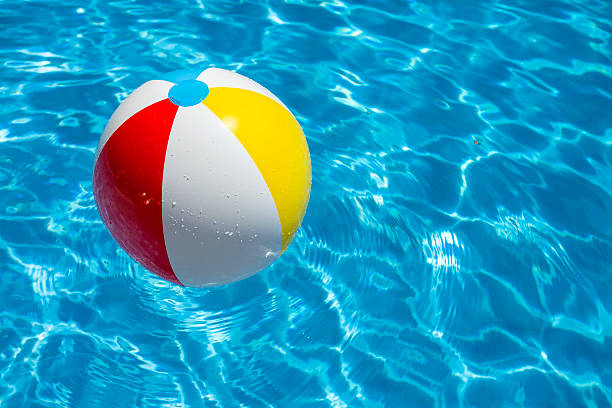 Beach Ball Party In A Blue Water Swimming Pool Pictures Images