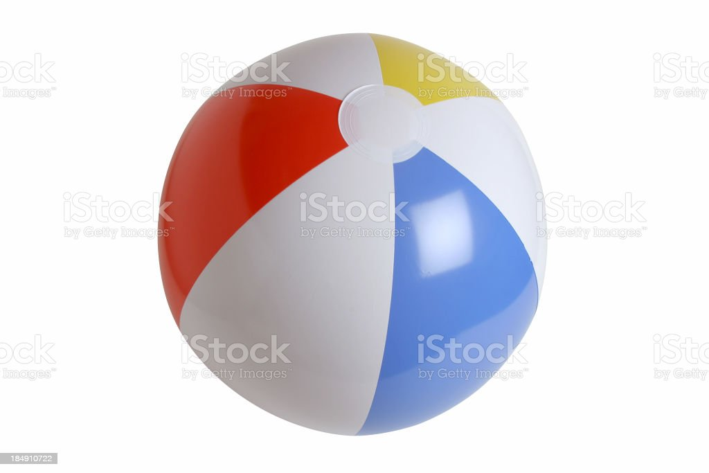 Beach Ball Series on white (clipping path) stock photo
