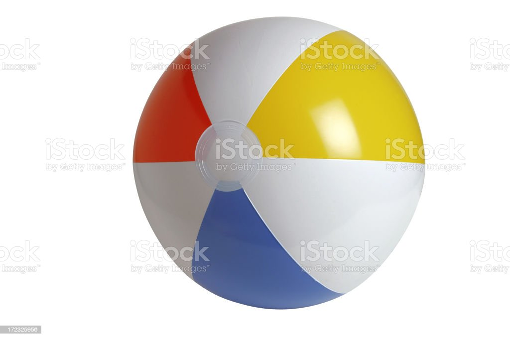 Beach Ball Series (clipping path!) royalty-free stock photo