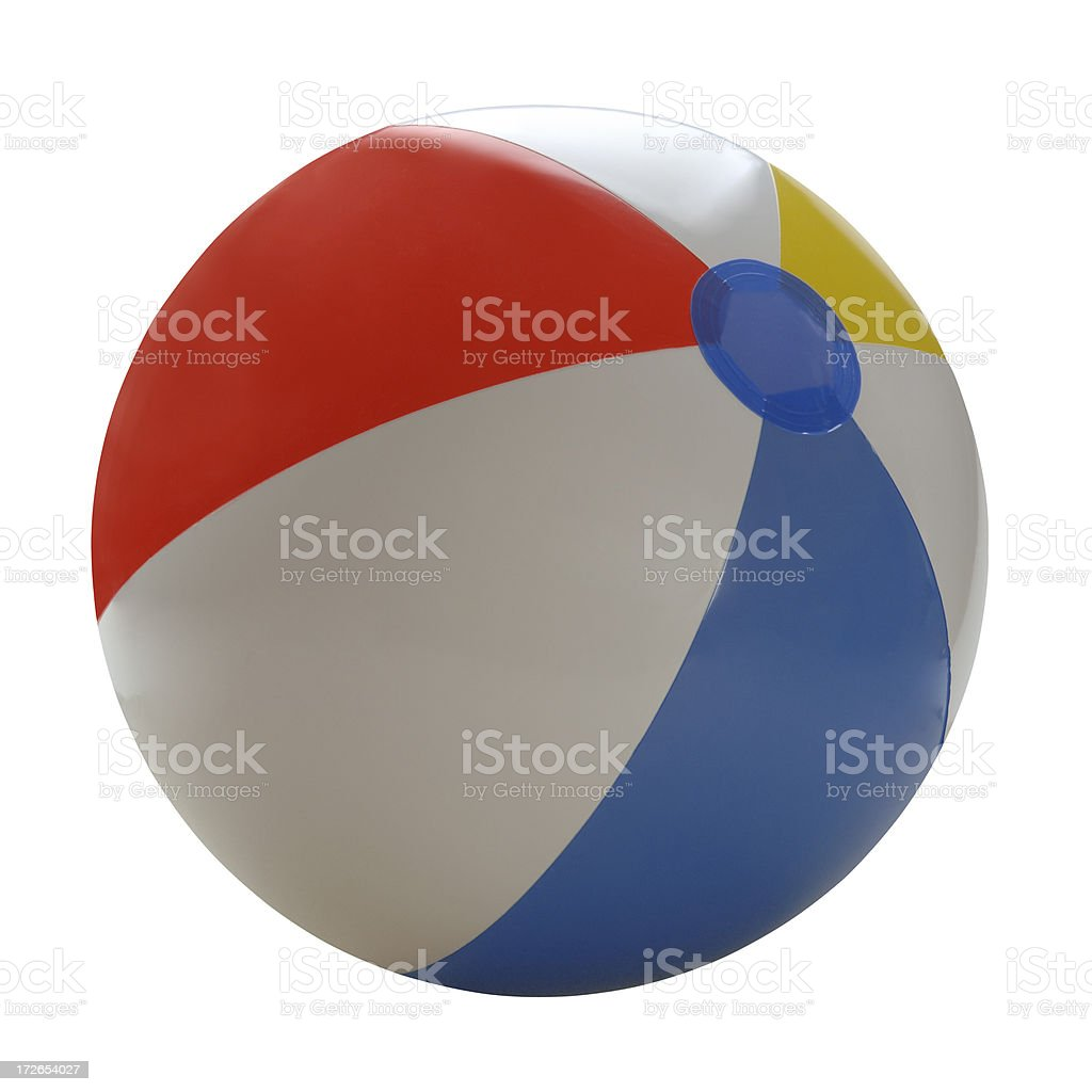Beach Ball with Path royalty-free stock photo