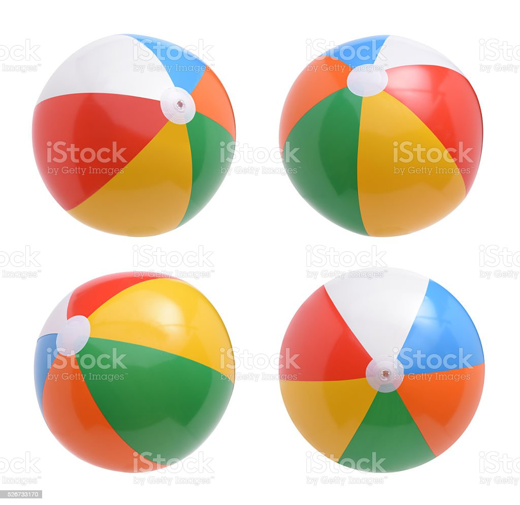 Beach balls set isolated on white background