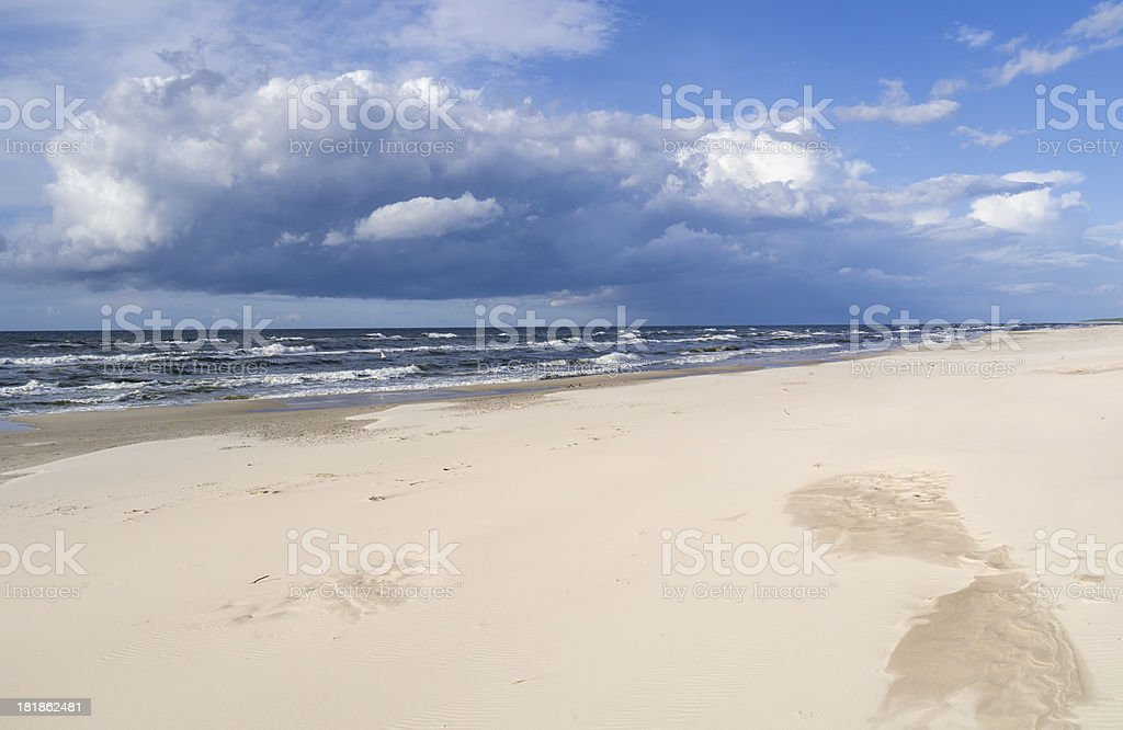 Beach - Baltic Sea royalty-free stock photo
