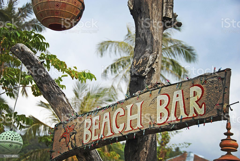 Beach Bar royalty-free stock photo
