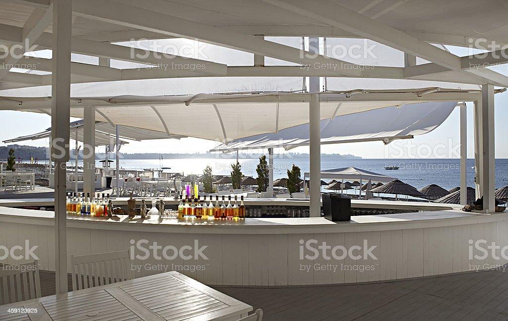 Beach bar stock photo