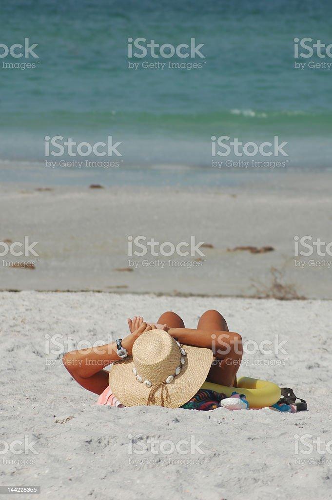Playa bather foto de stock libre de derechos