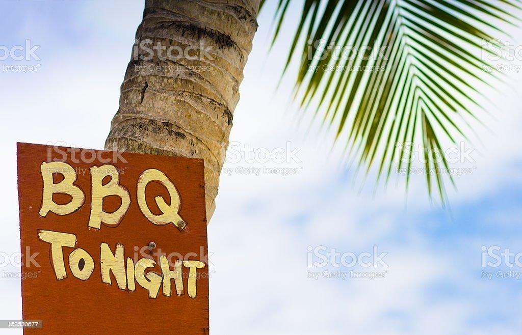 Beach BBQ royalty-free stock photo