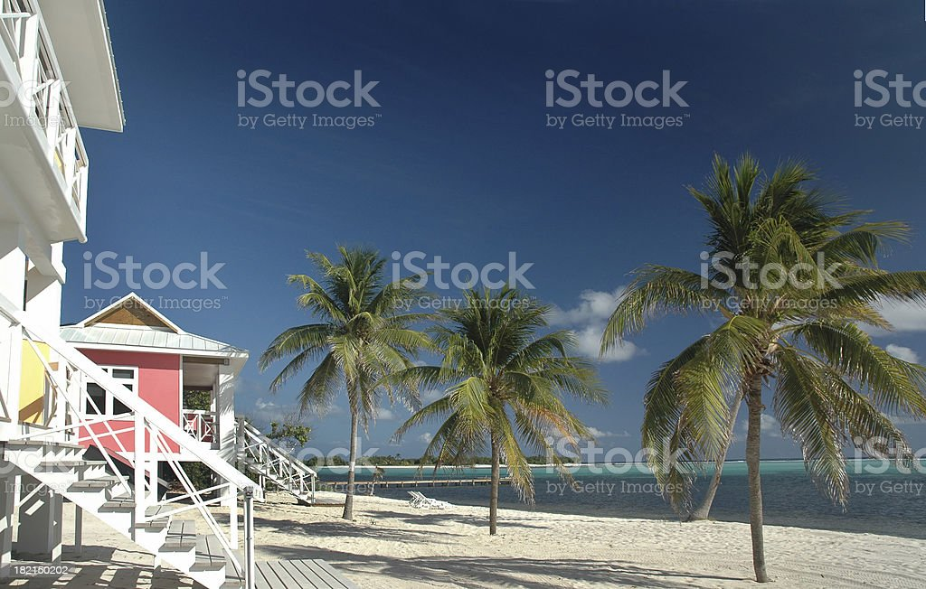 Beach - Beachfront Houses royalty-free stock photo
