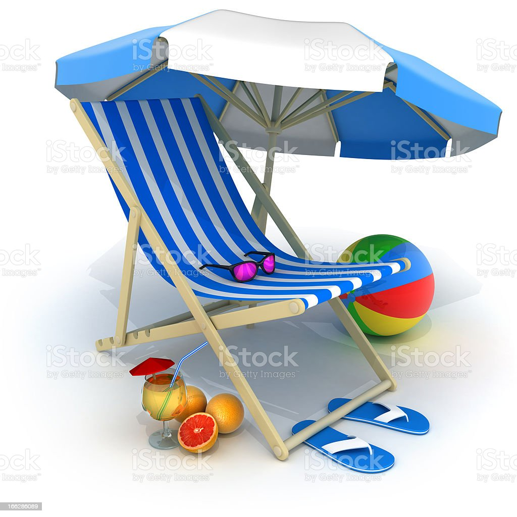 Beach bed and tent royalty-free stock photo