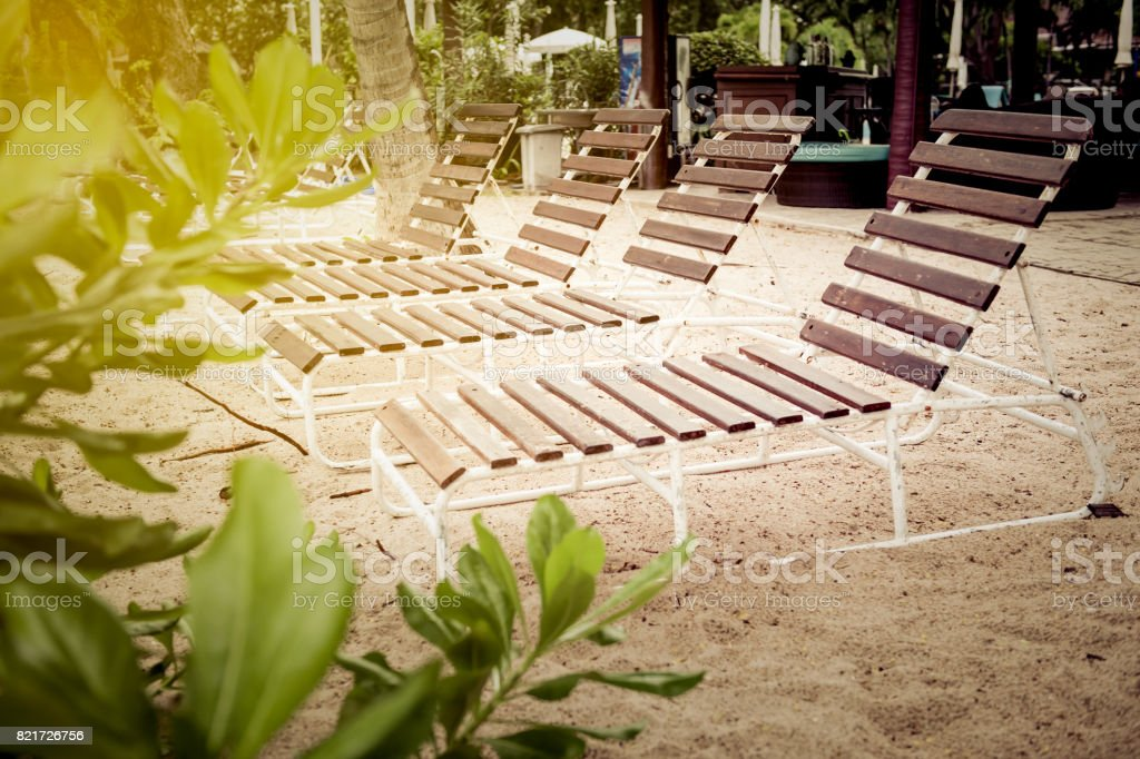 Beach bed stock photo