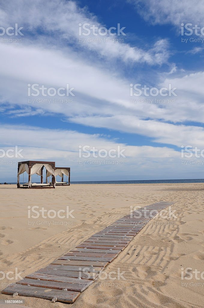 Beach Beds royalty-free stock photo