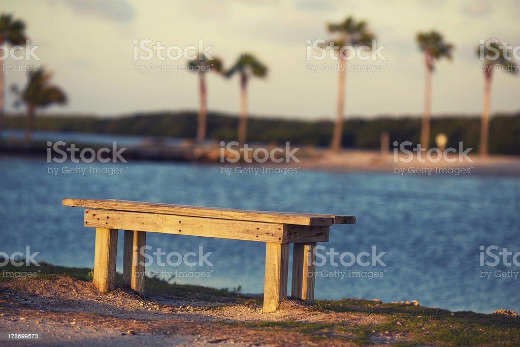 beach bench royalty-free stock photo