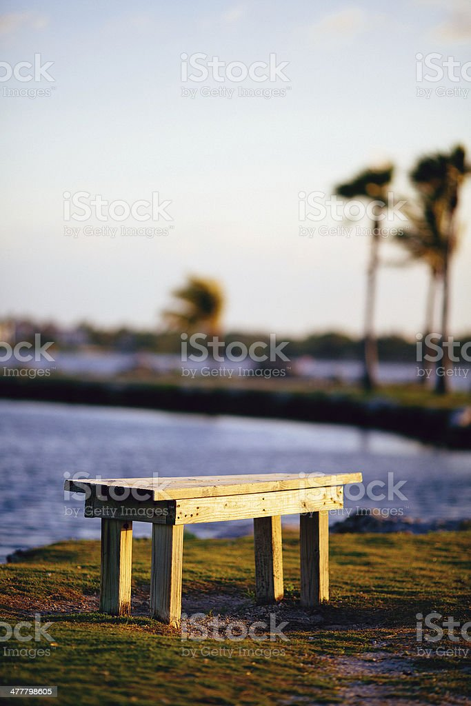 beach bench royalty-free stock photo