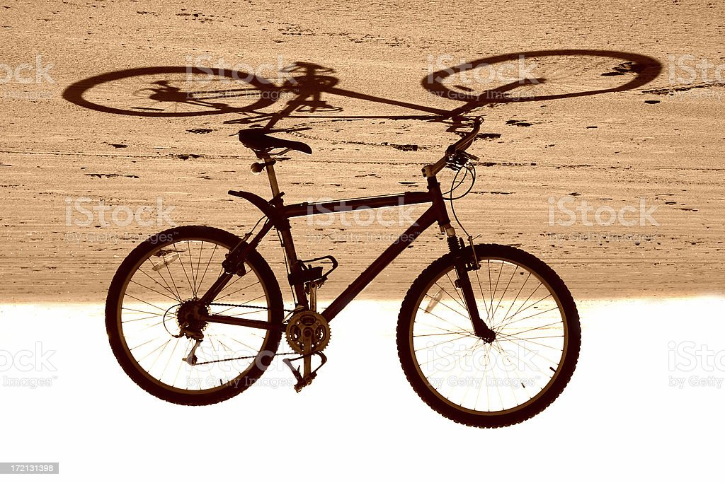 Beach bike 2 stock photo