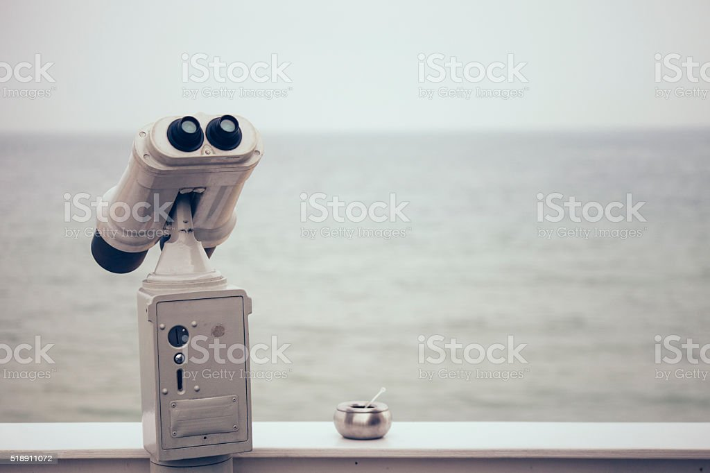 Beach binocular stock photo