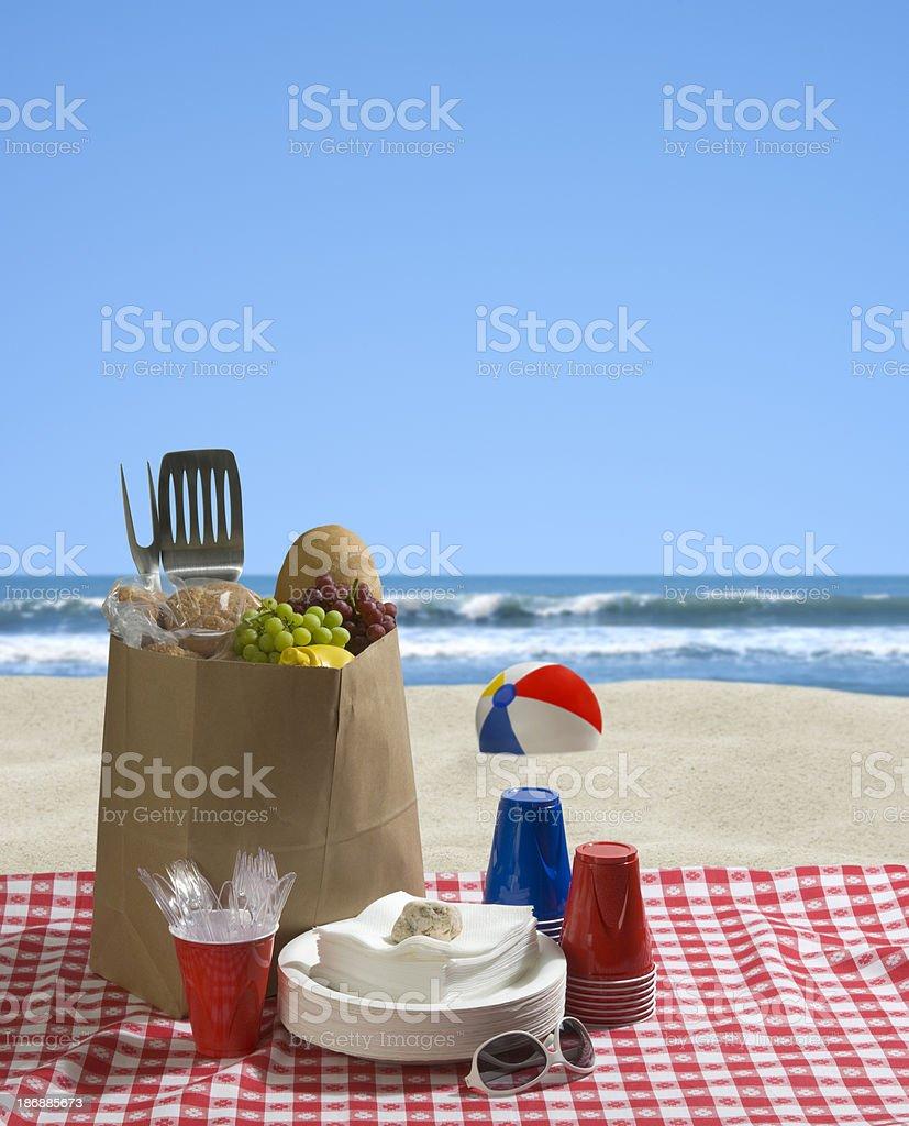 Beach Blanket BBQ royalty-free stock photo