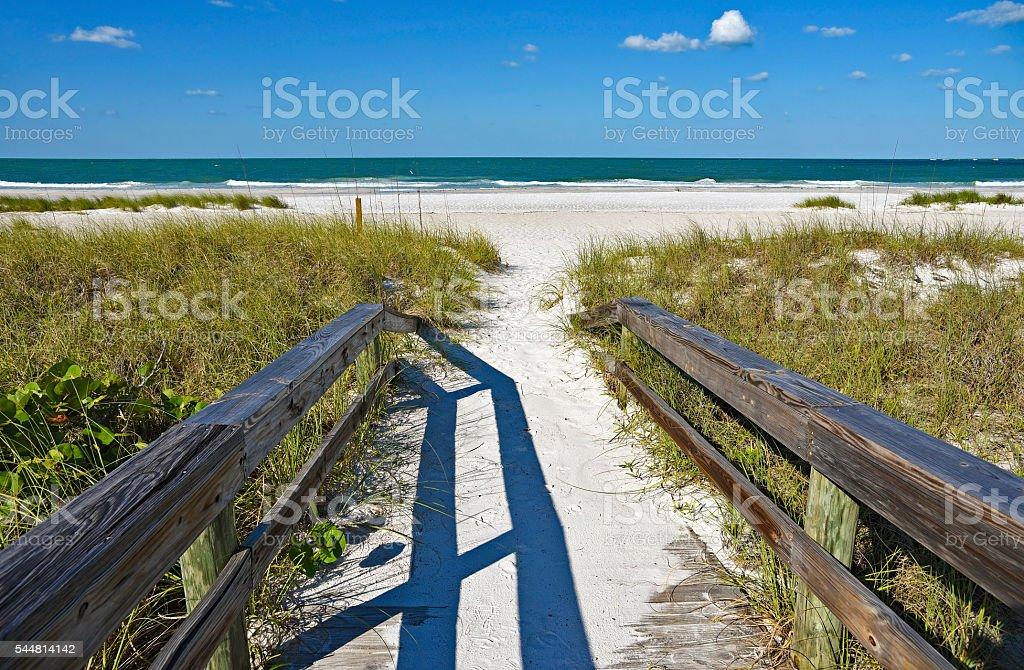 Beach Boardwalk stock photo