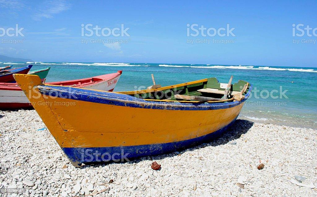 Beach Boats stock photo