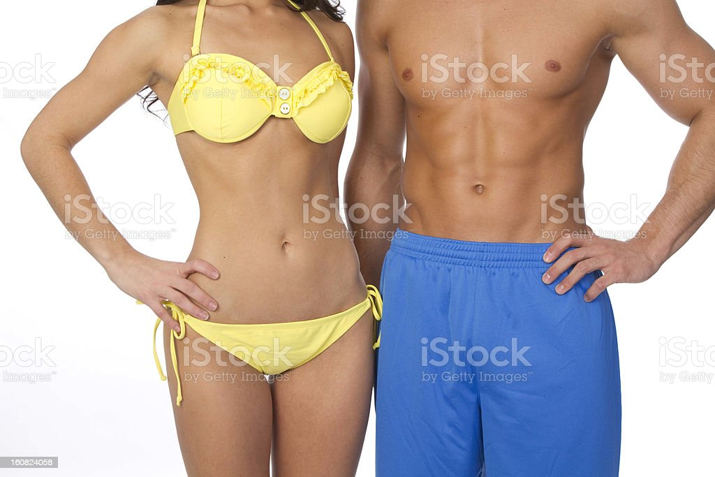 beach body couple royalty-free stock photo