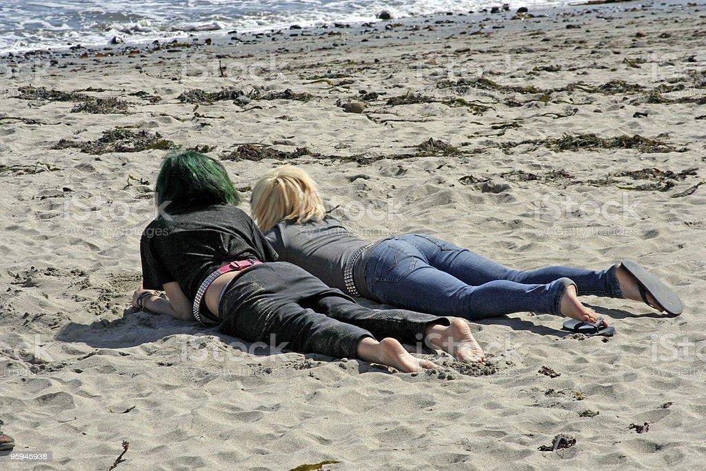 La plage liens photo libre de droits