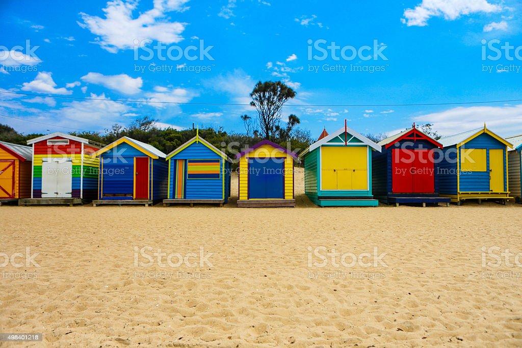 Beach Boxes stock photo
