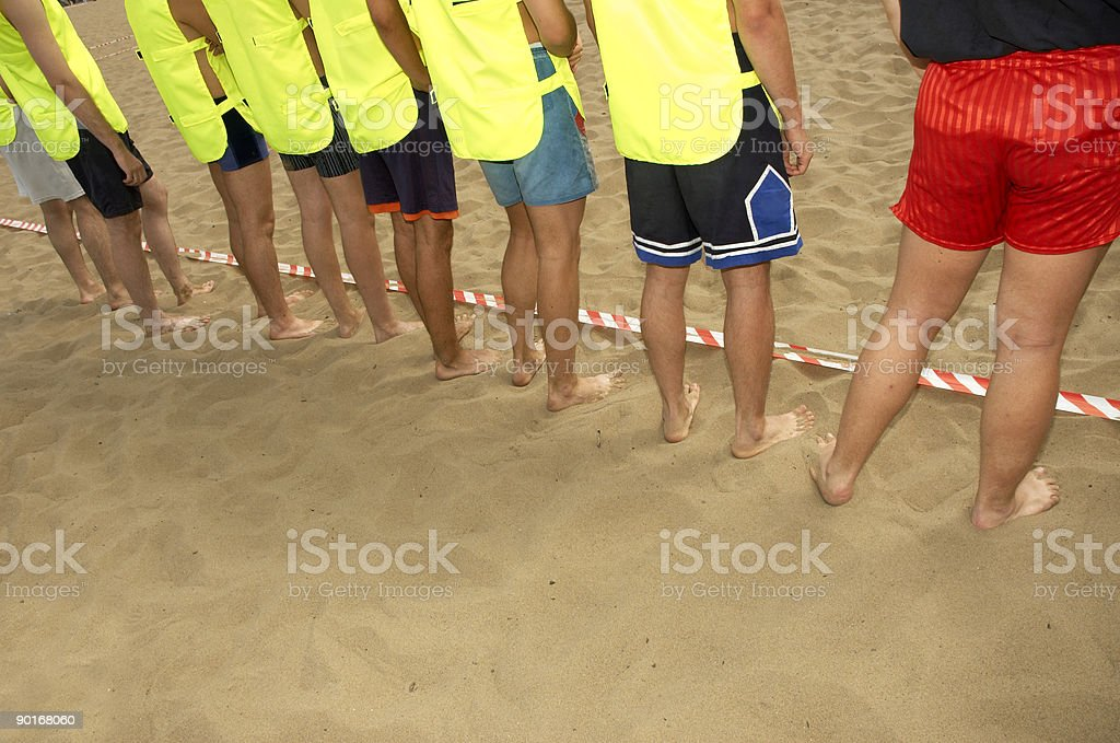 beach boys team royalty-free stock photo