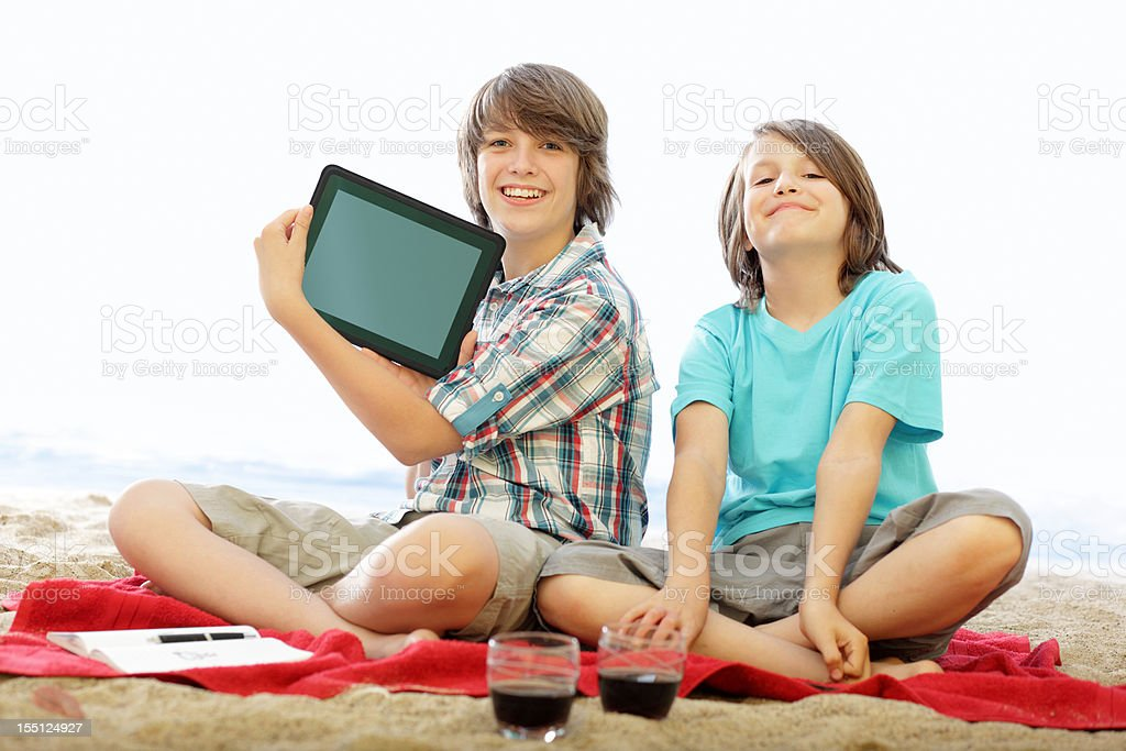 Beach Brothers - Modern Playing royalty-free stock photo
