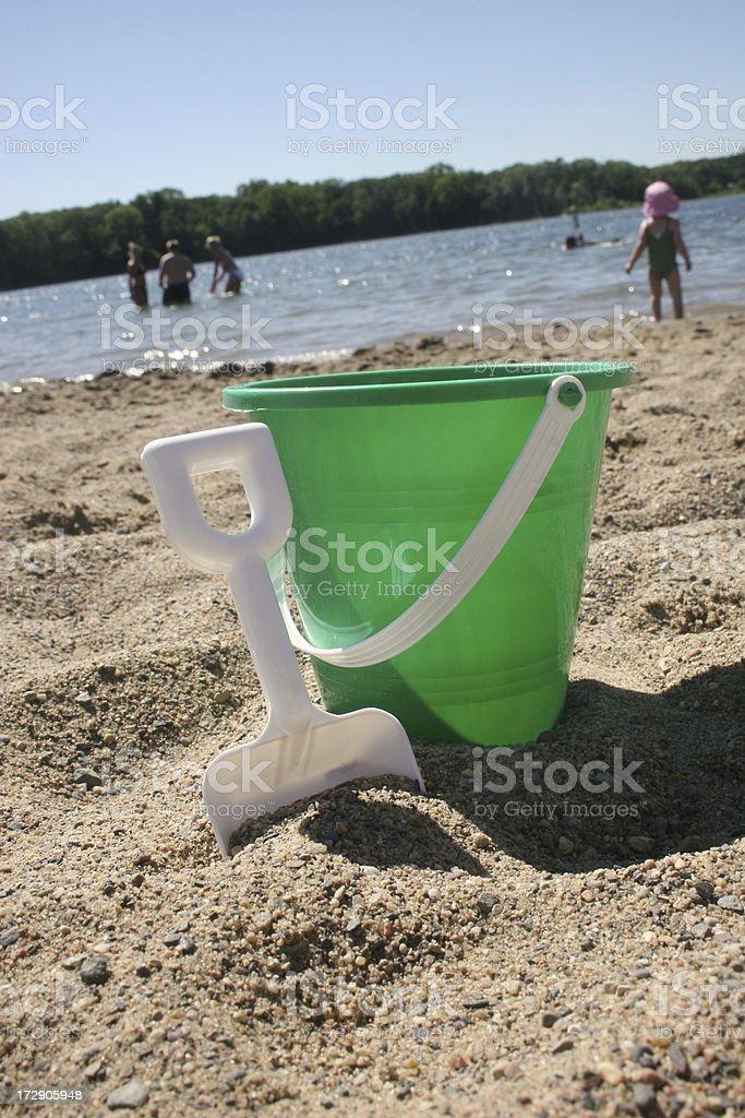 beach bucket royalty-free stock photo