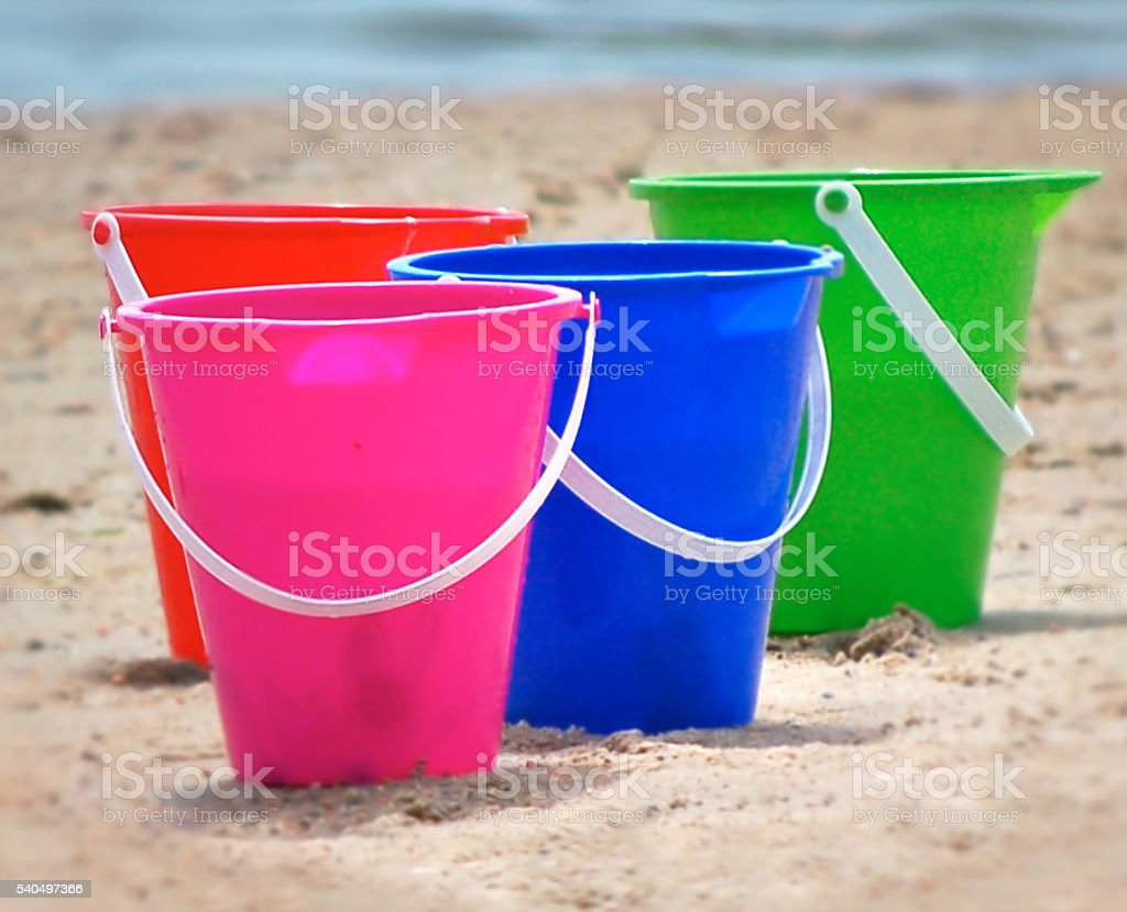 Beach Buckets stock photo