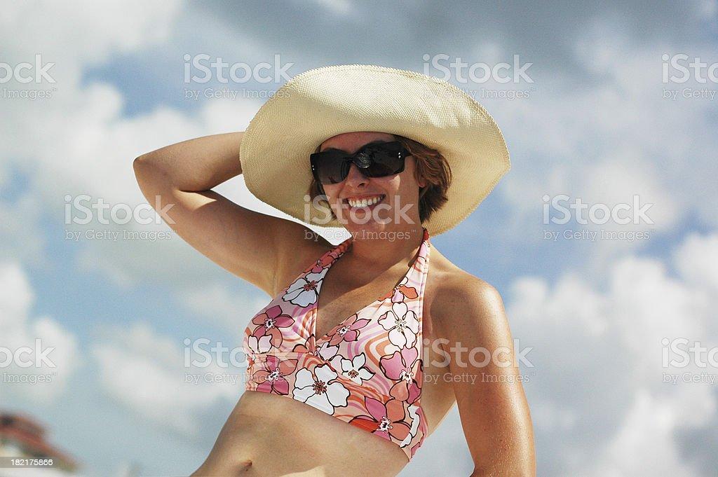 Beach Bum stock photo