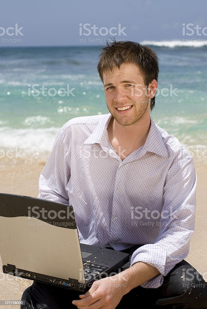 Beach business royalty-free stock photo