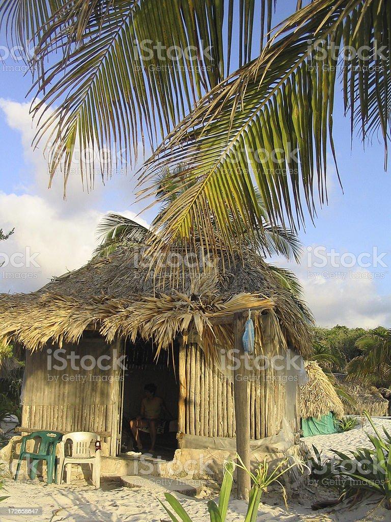 Beach Cabana 2 royalty-free stock photo