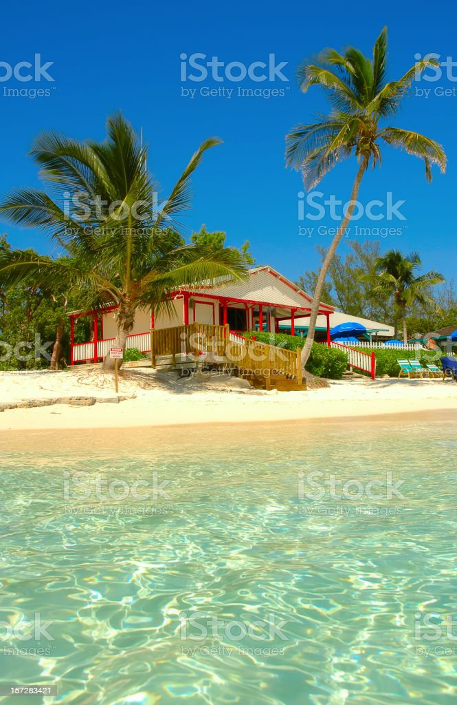 beach cabana royalty-free stock photo