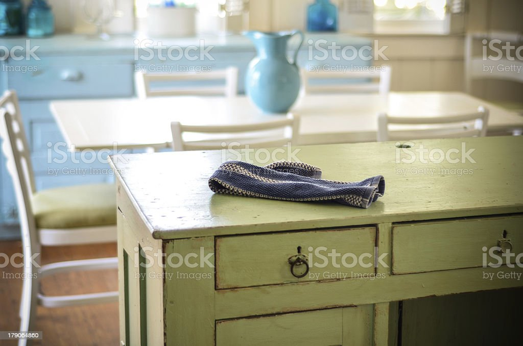 Beach Cabin Kitchen stock photo